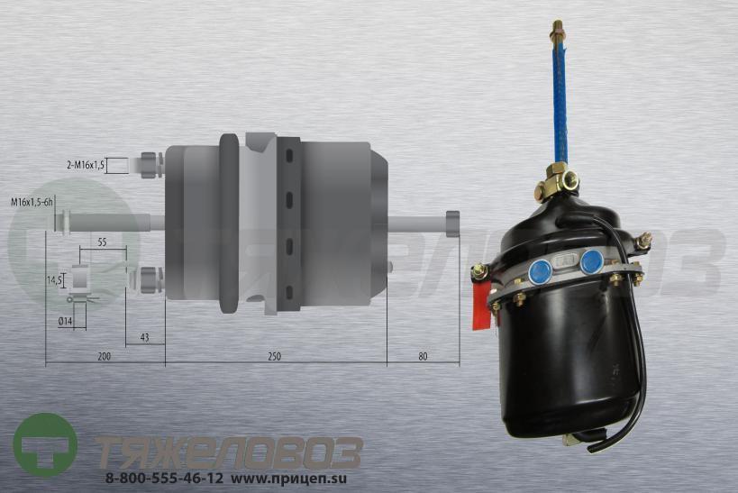 Энергоаккумулятор тип 24\24 MAN (барабанный тормоз) 85504106002