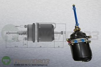 Энергоаккумулятор тип 16\24 SAF (барабанный тормоз) 9254940417