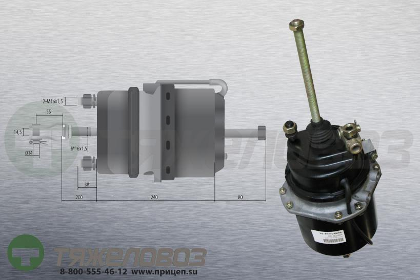 Энергоаккумулятор тип 16\24 MERCEDES-BENZ (барабанный тормоз) 0124200018