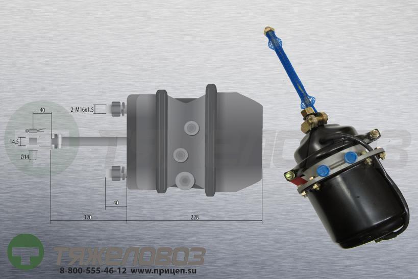 Энергоаккумулятор тип 16\24 DAF (барабанный тормоз)  1518151