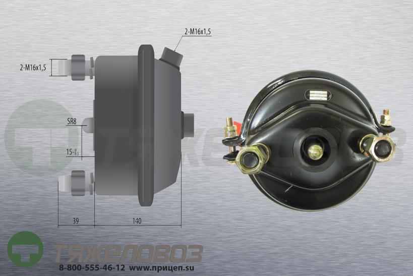 Камера тормозная тип 24 BPW (дисковый тормоз)  05.444.36.02.0