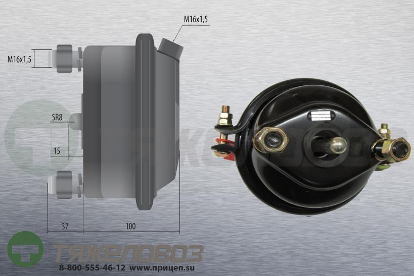 Камера тормозная тип 16 BPW (дисковый тормоз) 05.444.32.02.0