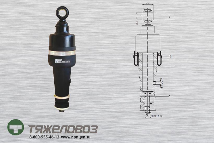 Амортизатор кабины передний DAF 1285393 (P20.7101.FA)