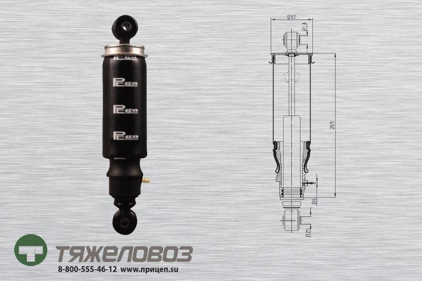 Амортизатор кабины VOLVO 1075076  (P20.6103.RA)