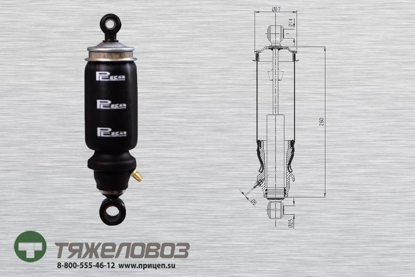 Амортизатор кабины Mercedes 9428902919 (P20.2101.FA)