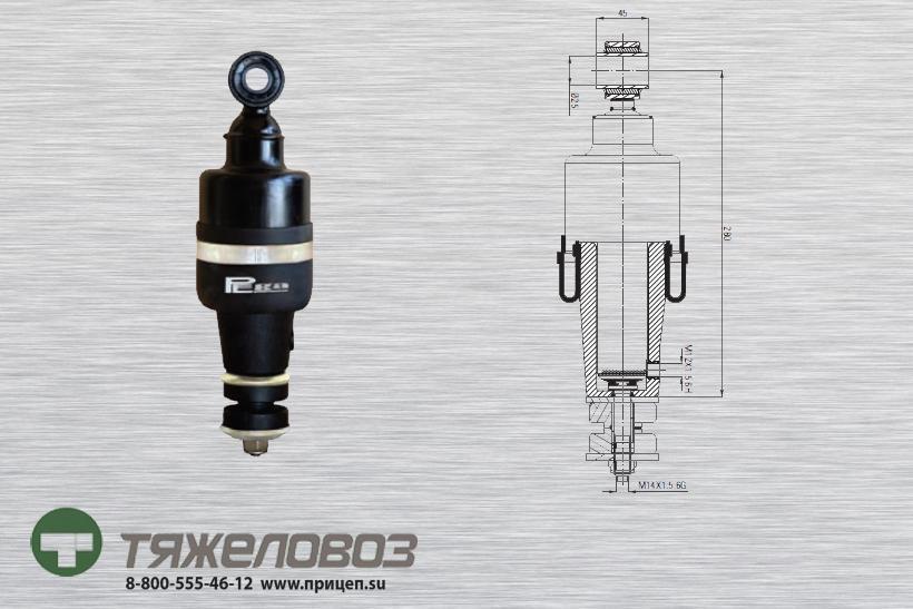Амортизатор кабины DAF 1321591 (P20.7101.RA)
