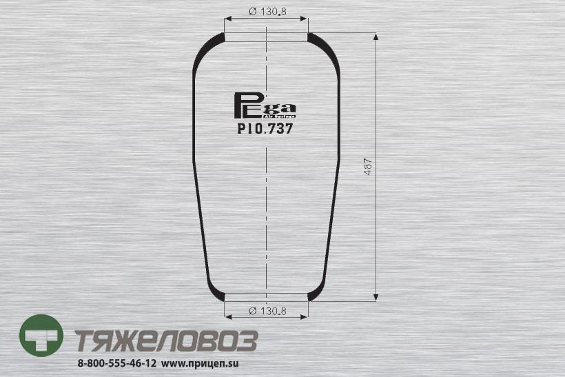 Пневморессора Mercedes, PEGASO 178739 (P10.737.R)