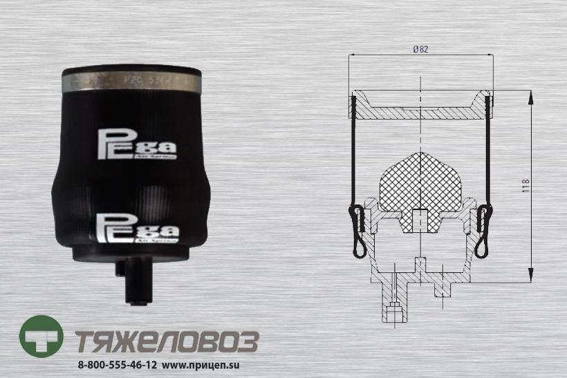Воздушная подушка амортизатора кабины RENAULT 5010130797G (P20.5302.F)