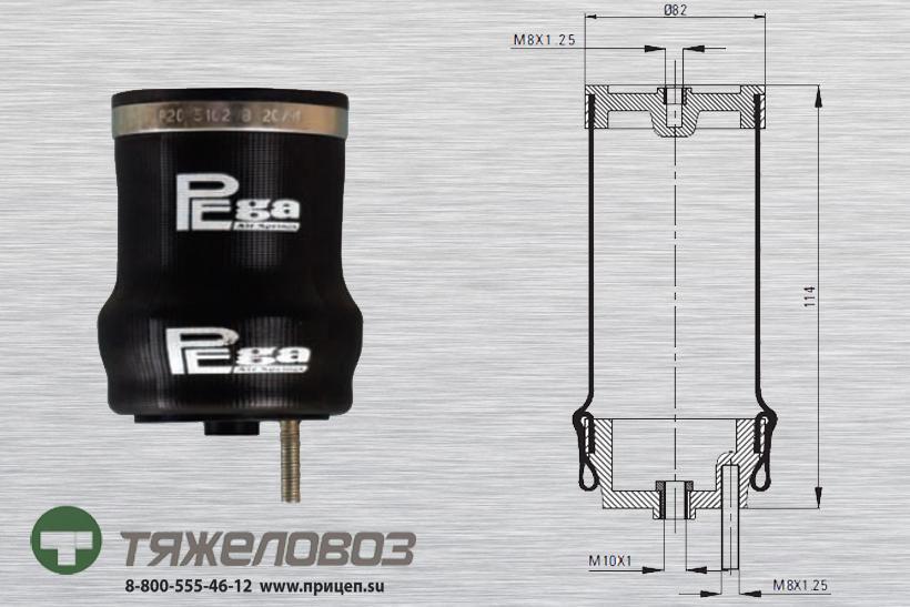 Воздушная подушка амортизатора кабины RENAULT 20055 (P20.5102.B)