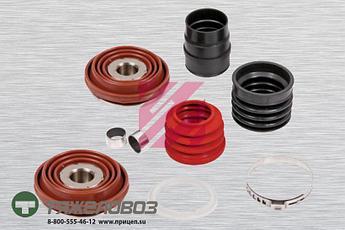 Ремкомплект суппорта- 2 пятака, пыльник, 2 втулки, кольцо, зажим (9 деталей) KNORR SB6..  SB7.. (M2910015)
