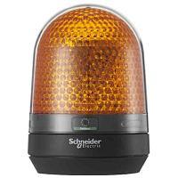 Оранжевый сигнальный маячок с зуммером,100...230 В переменный ток, IP23, монтажный диаметр 100мм