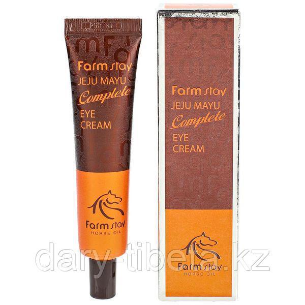 Farm Stay Jeju Mayu Complete Eye Cream-Крем для кожи вокруг глаз с лошадиным маслом