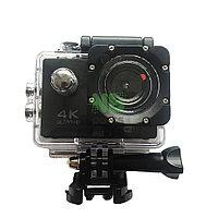 Action Camera H1-18 12MP, 4K Ultra HD 3840 × 2160, Wi-Fi, дисплей, водонепроницаемый чехол, комплект креплений
