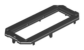 OBO Bettermann Накладка монтажной коробки GB2 3xModul45 165x76 мм (полиамид,черный)