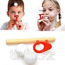 Деревянная логопедическая дудка для тренировки речевого дыхания, фото 3