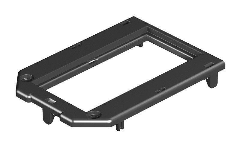 OBO Bettermann Накладка монтажной коробки GB2/3 2xModul45 104x76 мм (полиамид,черный)