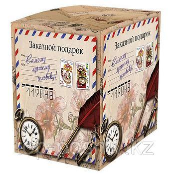 "Подарочная коробка для кружки ""Винтажная посылка"" (100х100х105мм)"