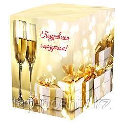 "Подарочная коробка для кружки ""Поздравляем"" (100х100х105мм)"