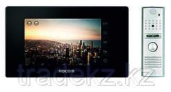 Домофон цветной с памятью KCV-544SD Black + панель вызова KC-MC20(W), комплект