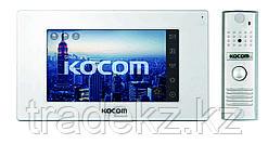 Домофон цветной с памятью KCV-544SD White + панель вызова KC-MC20(W), комплект