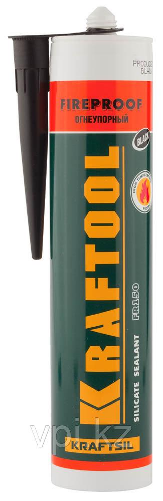Герметик силиконовый огнеупорный, черный, Kraftool 41260