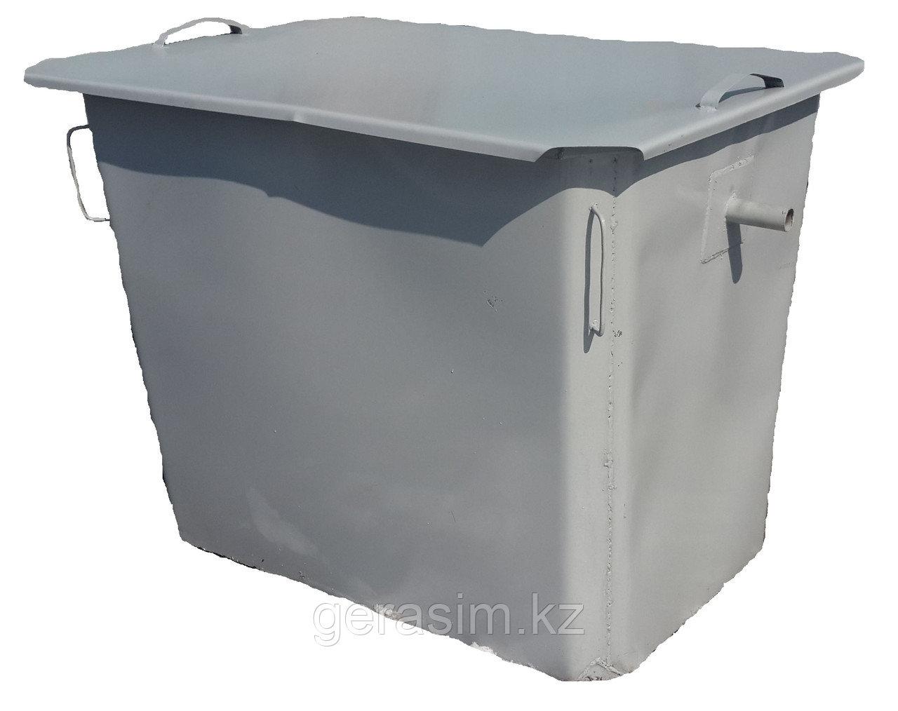 Контейнеры под мусор, баки 1,1 куба с крышкой, без колес (НДС 12% в т.ч.)