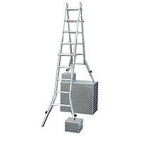 Шарнирная телескопическая лестница с перекладинами и 4 удлинителями боковин TeleVario®, фото 1