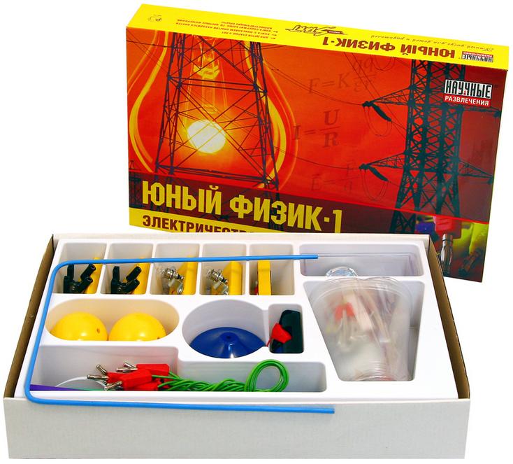 """Набор для экспериментов """"Юный физик - 1"""", 65 занимательных опытов"""
