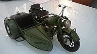 Модель мотоцикла с коляской 31X21X16,5 см.