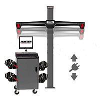 WA510E/HE421LZ3E, Стенд сход-развал 3D, 4-x камерный, лифтовая стойка, QuickGrip адаптеры, RAL7040