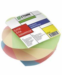 """Блок для записей СТАММ """"Спираль""""  цветной  9х9х5 см"""
