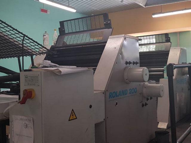 Roland 204 TOB, 1999 г, 4 красочная печатная машина.