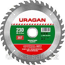 """Диски пильные """"Optimal cut"""" по дереву, URAGAN, фото 3"""