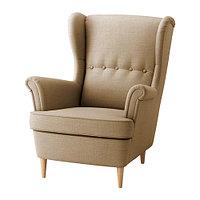 Кресло с подголовником СТРАНДМОН бежевый ИКЕА, IKEA