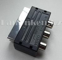 Переходник SCART - 3RCA+SVHS (с переключателем)