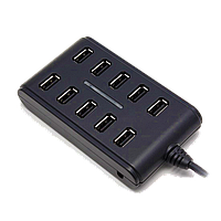 Расширитель USB Deluxe на 10 Портов DUH10001BK