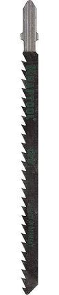 Полотна KRAFTOOL, T301CD, для эл/лобзика, Cr-V, по дереву, ДСП, ДВП, чистый рез, EU-хвост., шаг 4мм, 110мм., фото 2