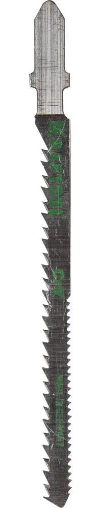 Полотна KRAFTOOL, T101AO, для эл/лобзика, Cr-V, по дереву, фанере, ламинату, фигурный рез, EU-хвост., шаг 2,5м