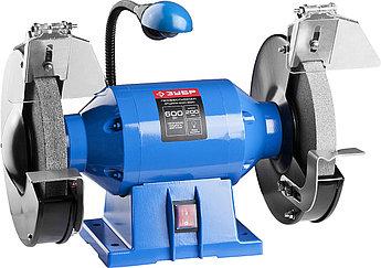 (ЗТШМЭ-200-600) Cтанок точильный двойной, ЗУБР Профессионал, лампа подсветки, D200х25хd32 мм