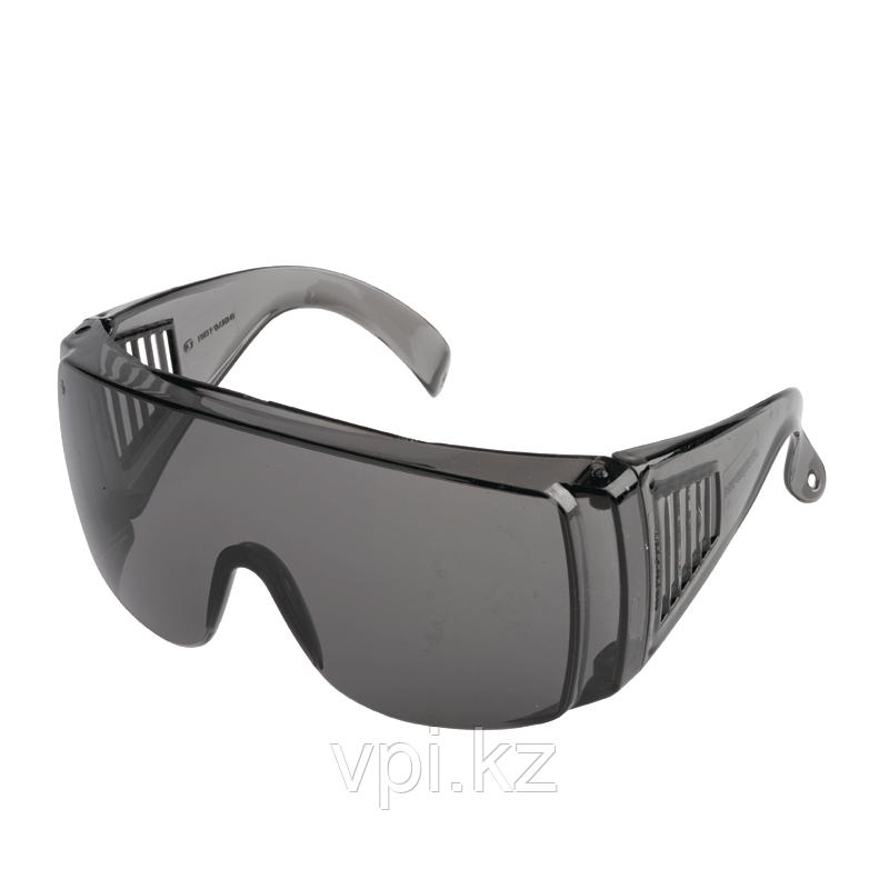 Очки защитные с дужками, затемненные открытого типа