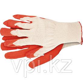 Перчатки х/б, латексный облив, Россия