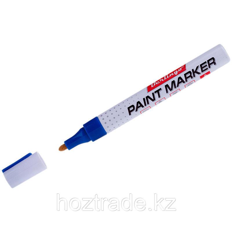 Маркер краска Berlingo 2-4 мм, синий, нитро-основа