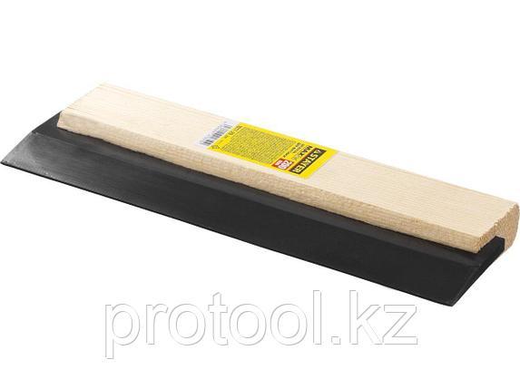 """Шпатель резиновый STAYER """"MASTER"""" для затирки, черный, 250 мм, фото 2"""