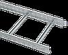 Лоток лестничный 100х400х3000, 1,2 мм