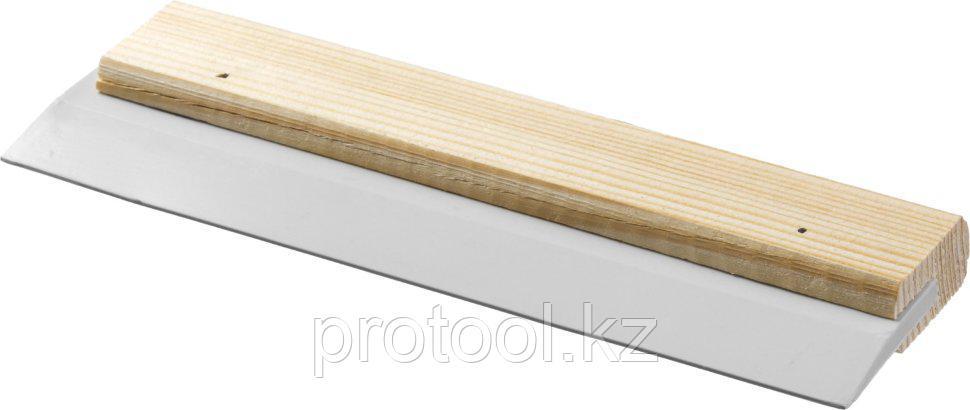 """Шпатель резиновый STAYER """"MASTER"""" для затирки, белый, 250 мм"""