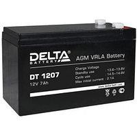 Батарея аккумуляторная 12В 7А.ч (152х65х100) Delta DT 1207