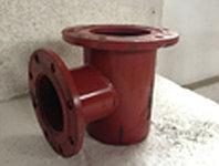 Подставка под пожарный гидрант стальн. непроход.фланц.(ППОФ) Д- 300 мм