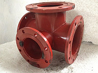 Тройник фланцевый с пожарной подставкой стальной (ППТФ) Д. 150/150 мм