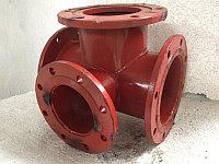 Тройник фланцевый с пожарной подставкой стальной (ППТФ) Д. 150/100 мм