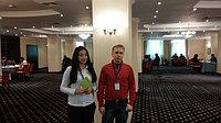 Наши сотрудники (ведущий менеджер и руководитель отдела реализации) на встрече с экономической делегацией федеральной земли Саксония (ФРГ) и представителями производителей оборудования из Германии. 24 Октября 2014 года. Отель Grand Tien Shan Almaty.